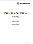 MOTOROLA GM340 MANUAL